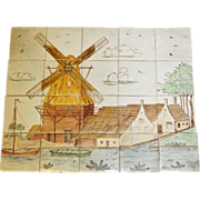 Scenic decorative vintage tile set