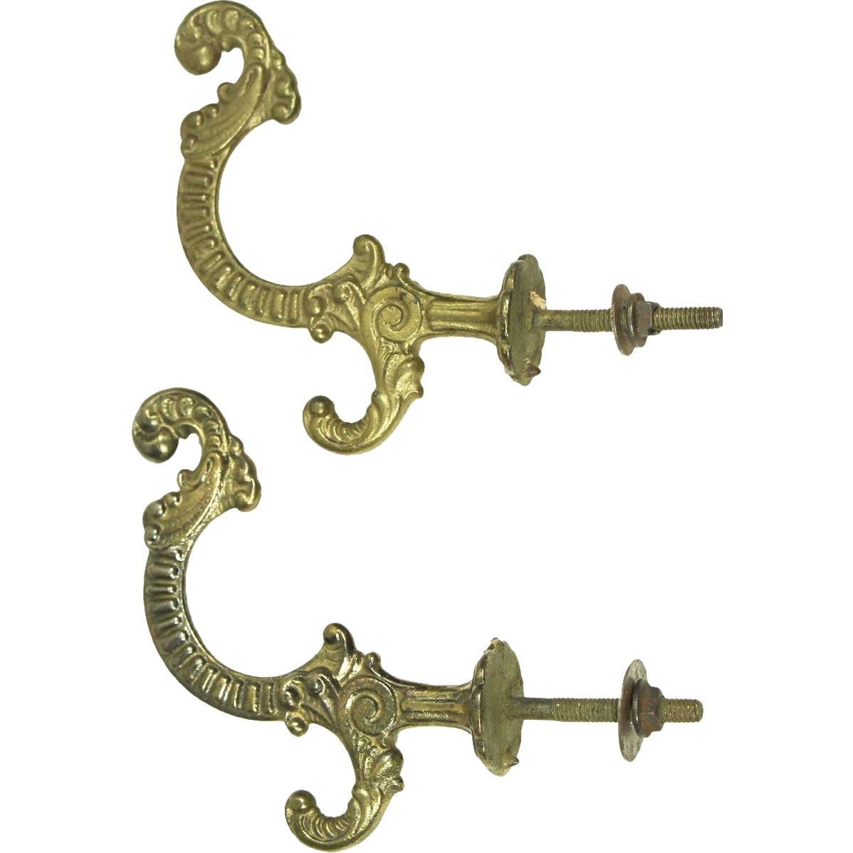 Set of decorative ornate hooks