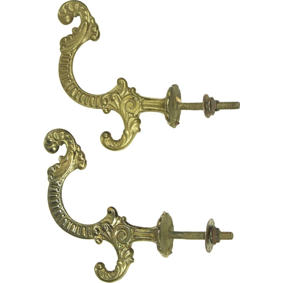 Set of decorative ornate hooks