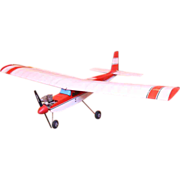 Red and white Eaglet airplane