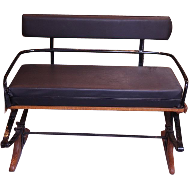 Black carriage bench