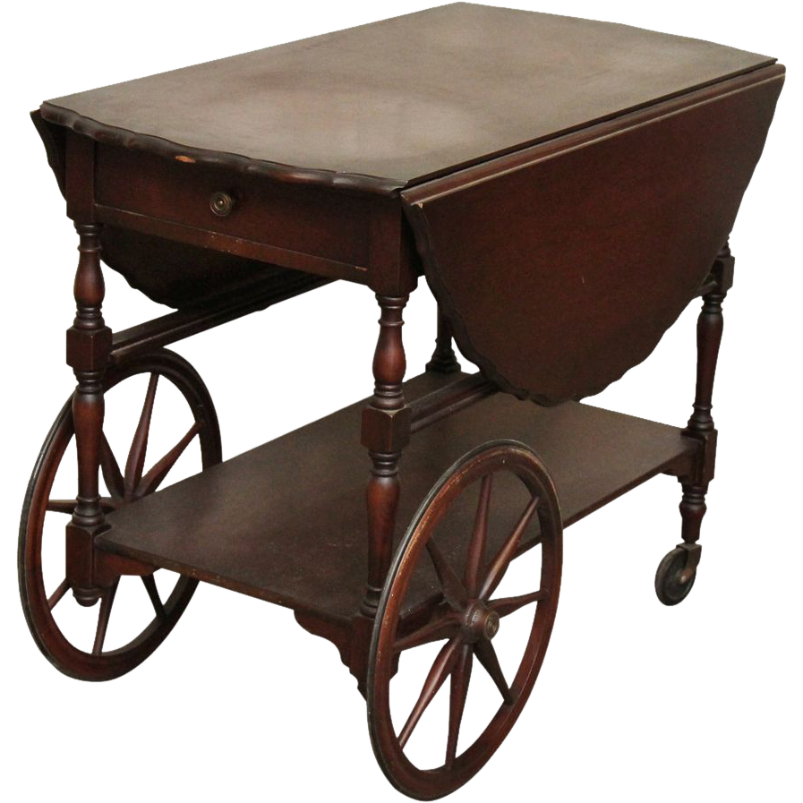 Vintage Wooden Tea Cart From Oldegoodthings On Ruby Lane