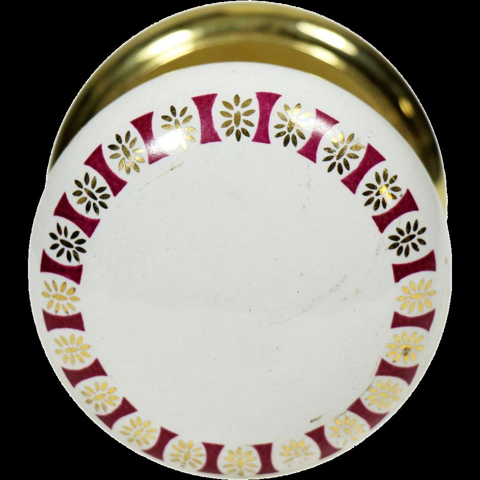 Single ceramic floral Gainsborough knob