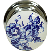 Single ceramic floral Gainsborough knob