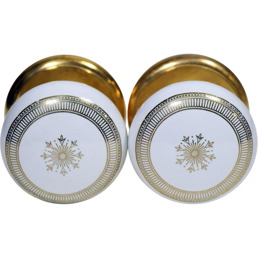 Pair of concentric & center star Gainsborough knobs