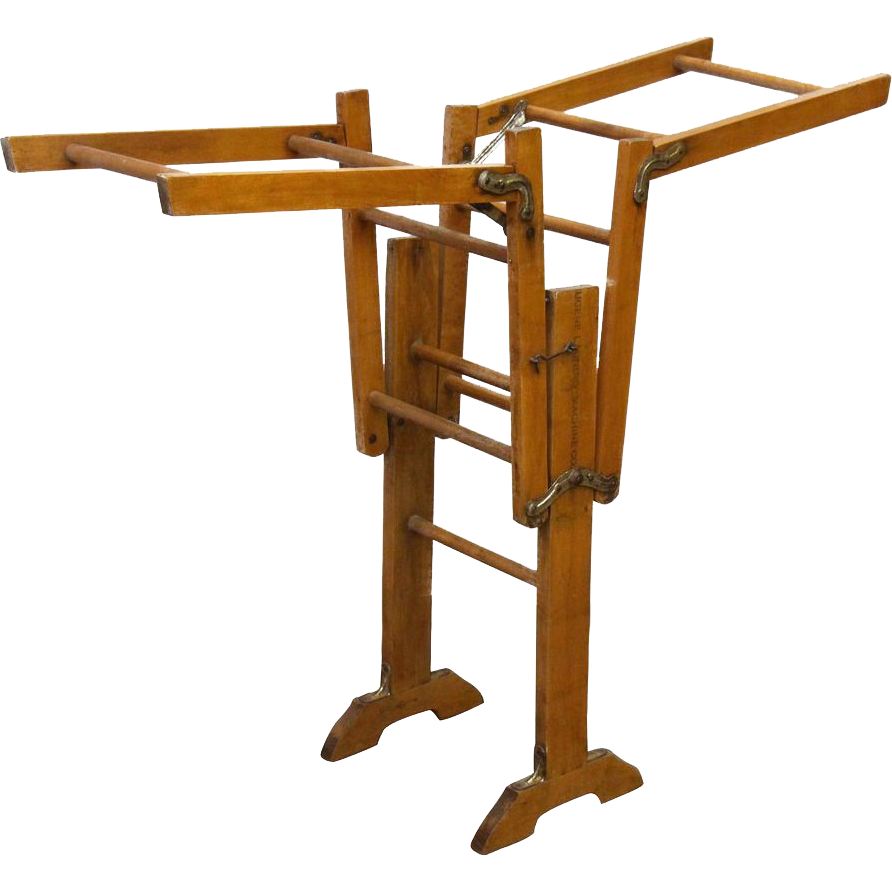 Vintage wooden laundry ladder
