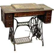 Singer sewing machine table duo