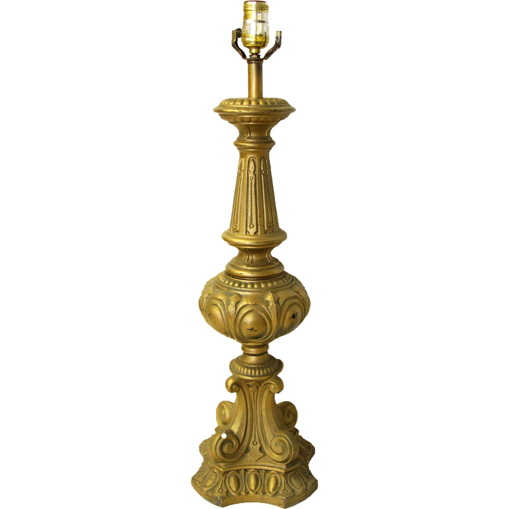 Ornate gold table lamp