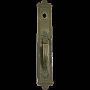 Beaded bronze door pull
