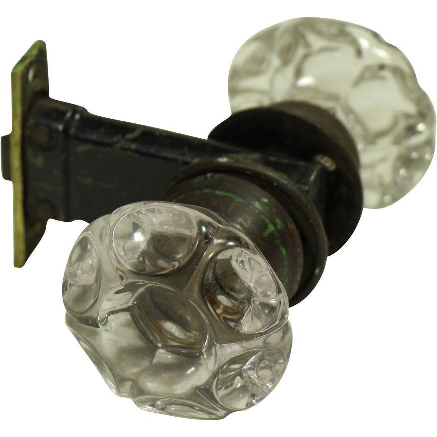 Glass door knob & lock set