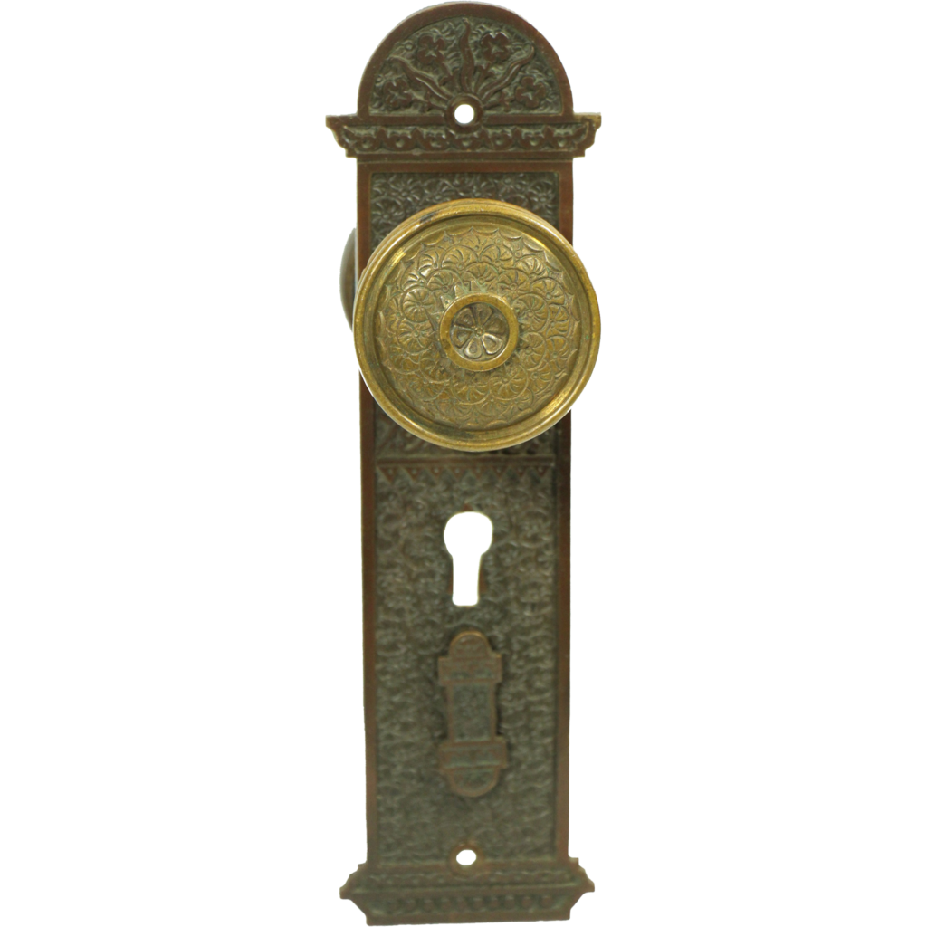 Ornate cast doorknob & set