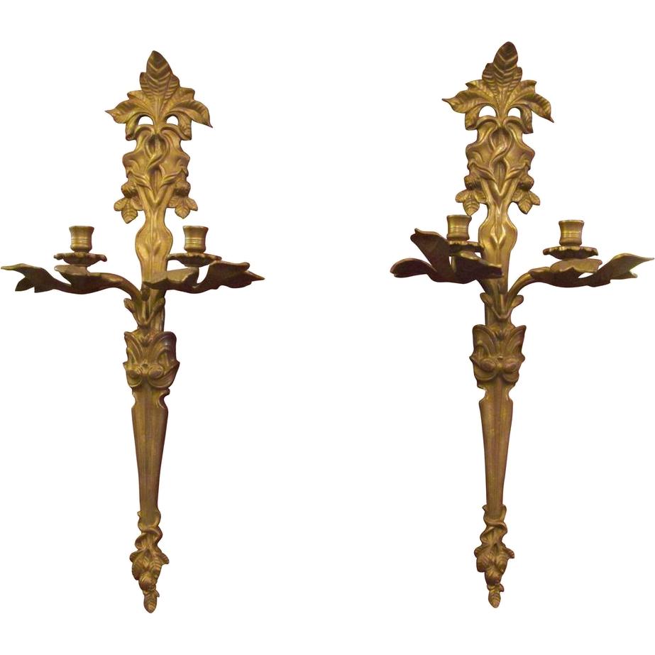 Pair of Art Nouveau sconces