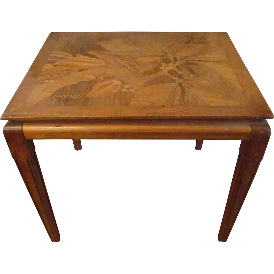 Rare Art Deco side table by Emila Salle