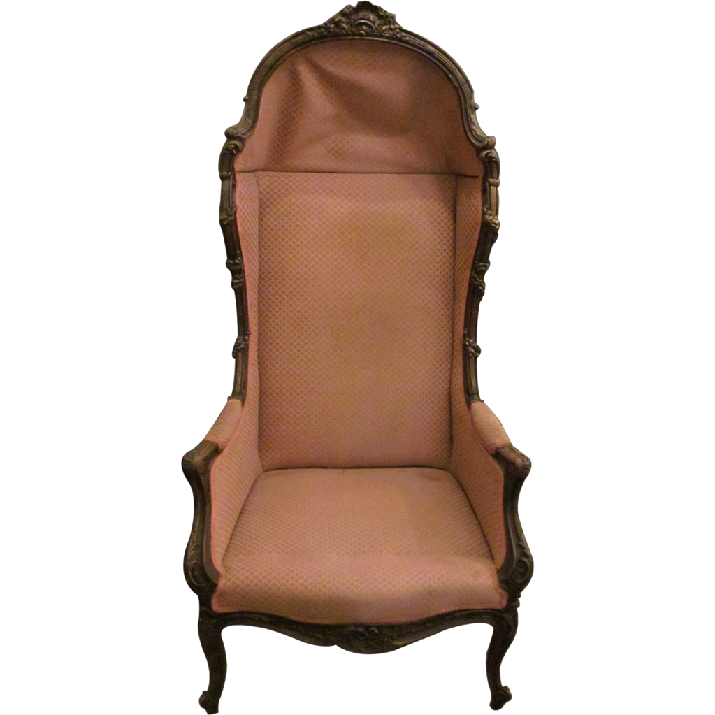 Pink upholstered Victorian chair