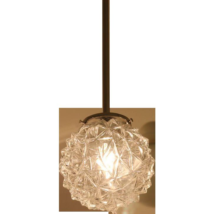 Mid Century porcupine glass lights