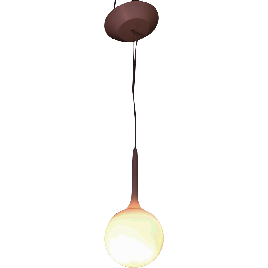 Glass globe pendant light-5""