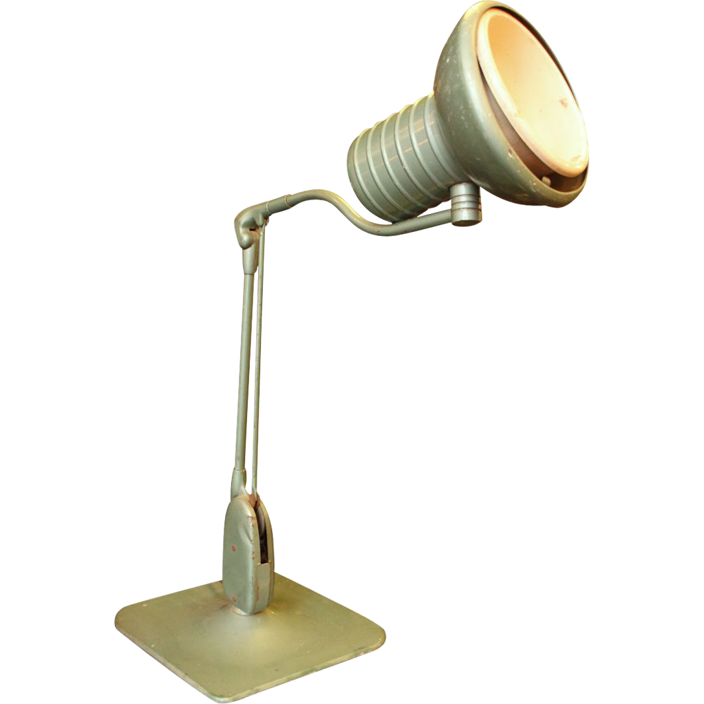 Adjustable metal teal desk lamp