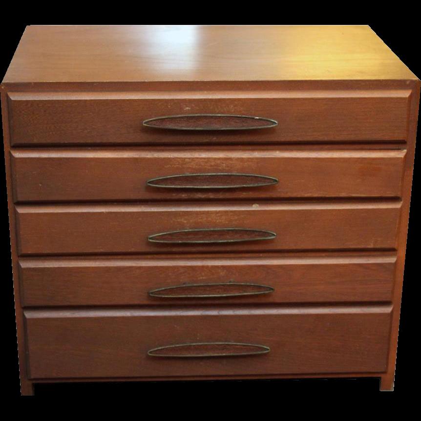 Vintage wooden silverware box