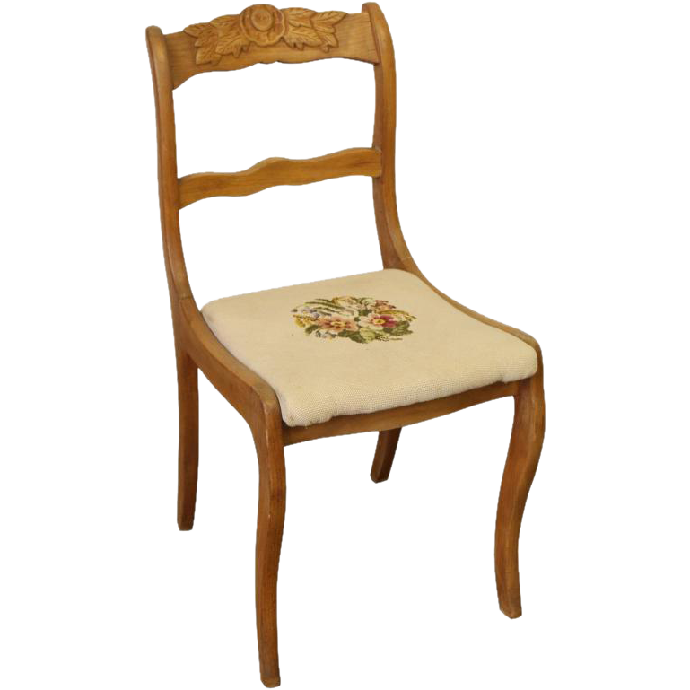 Vintage carved floral chair
