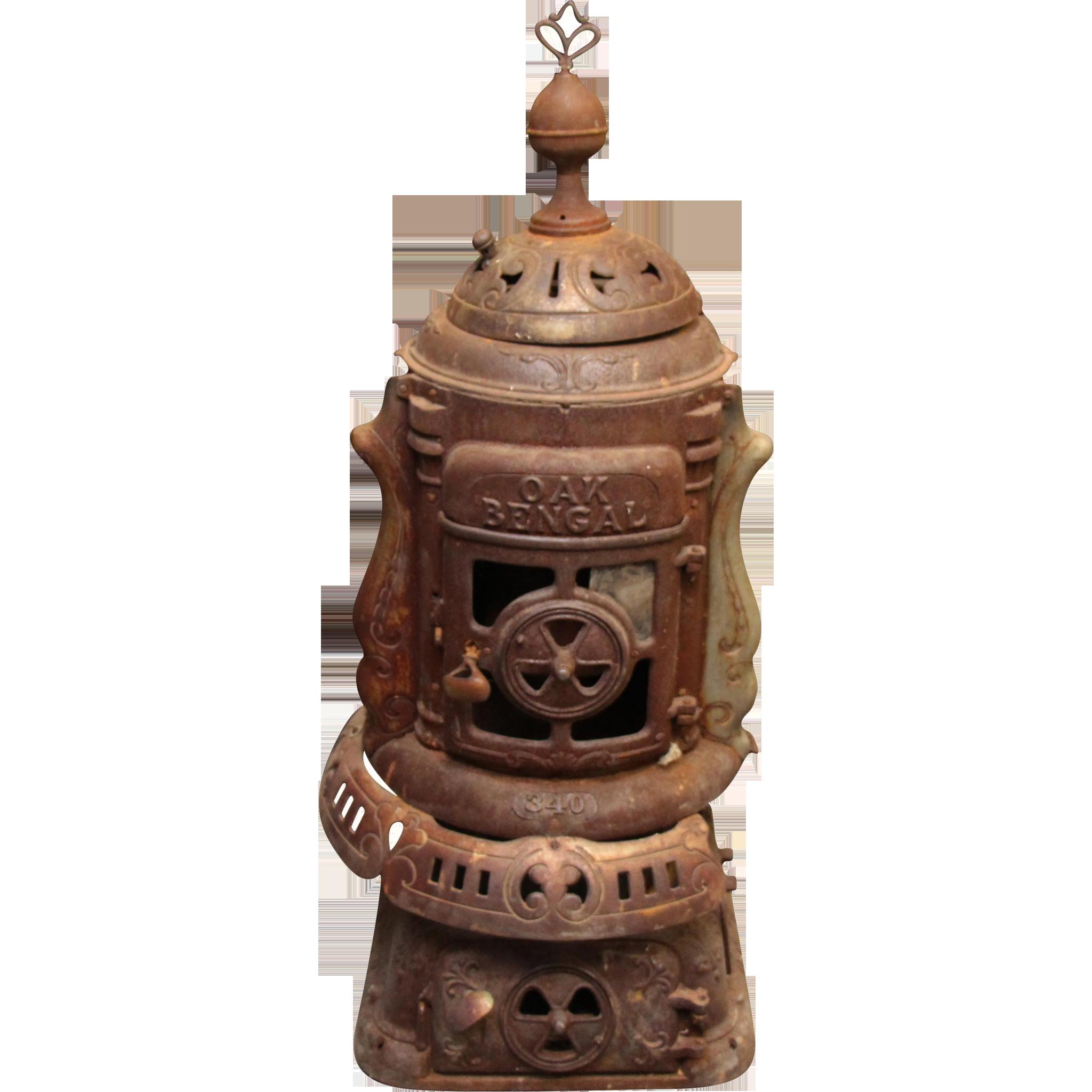 Ornate cast iron Oak Bengal antique stove