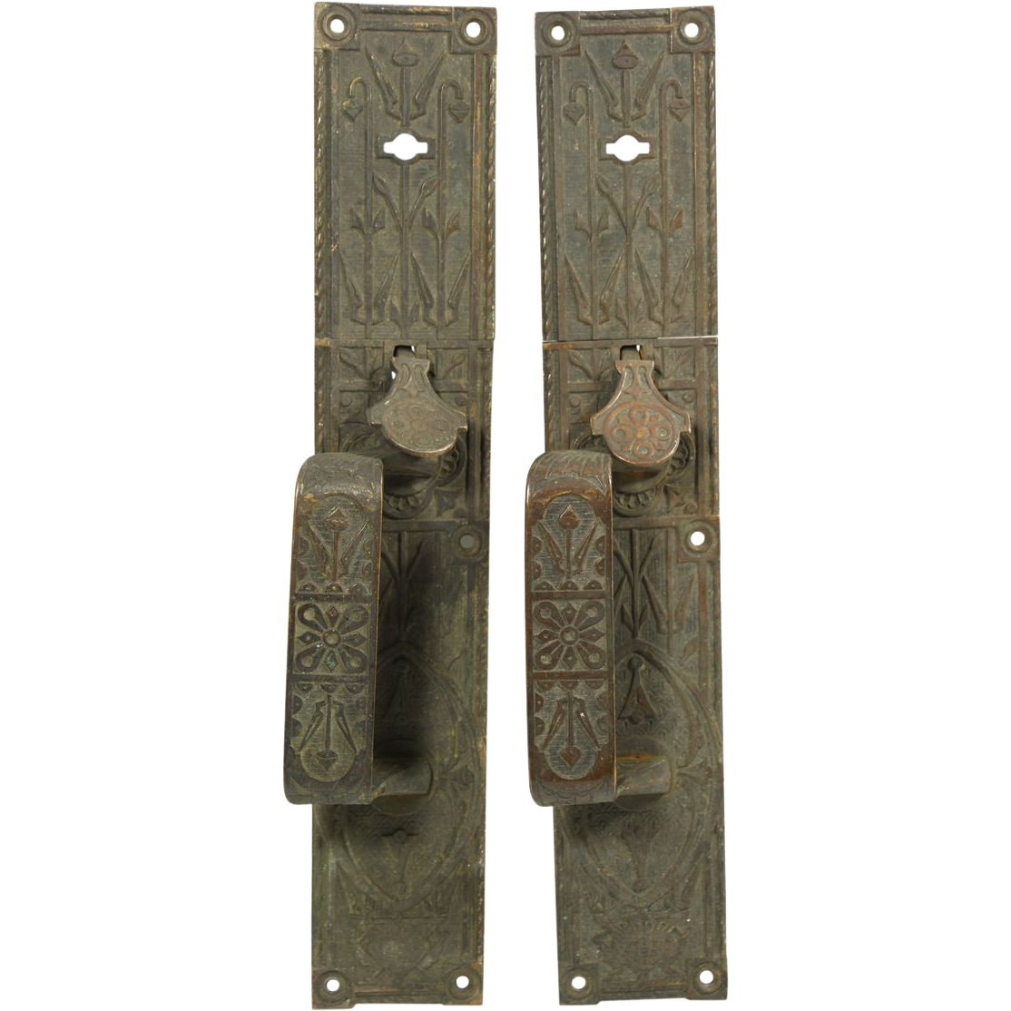 Pair of bronze Aesthetic door pulls