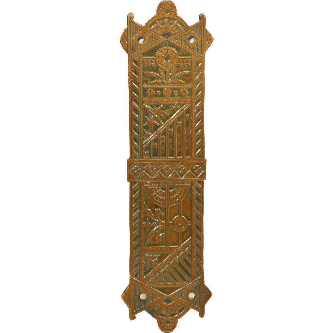 Art Deco bronze decorative push plate