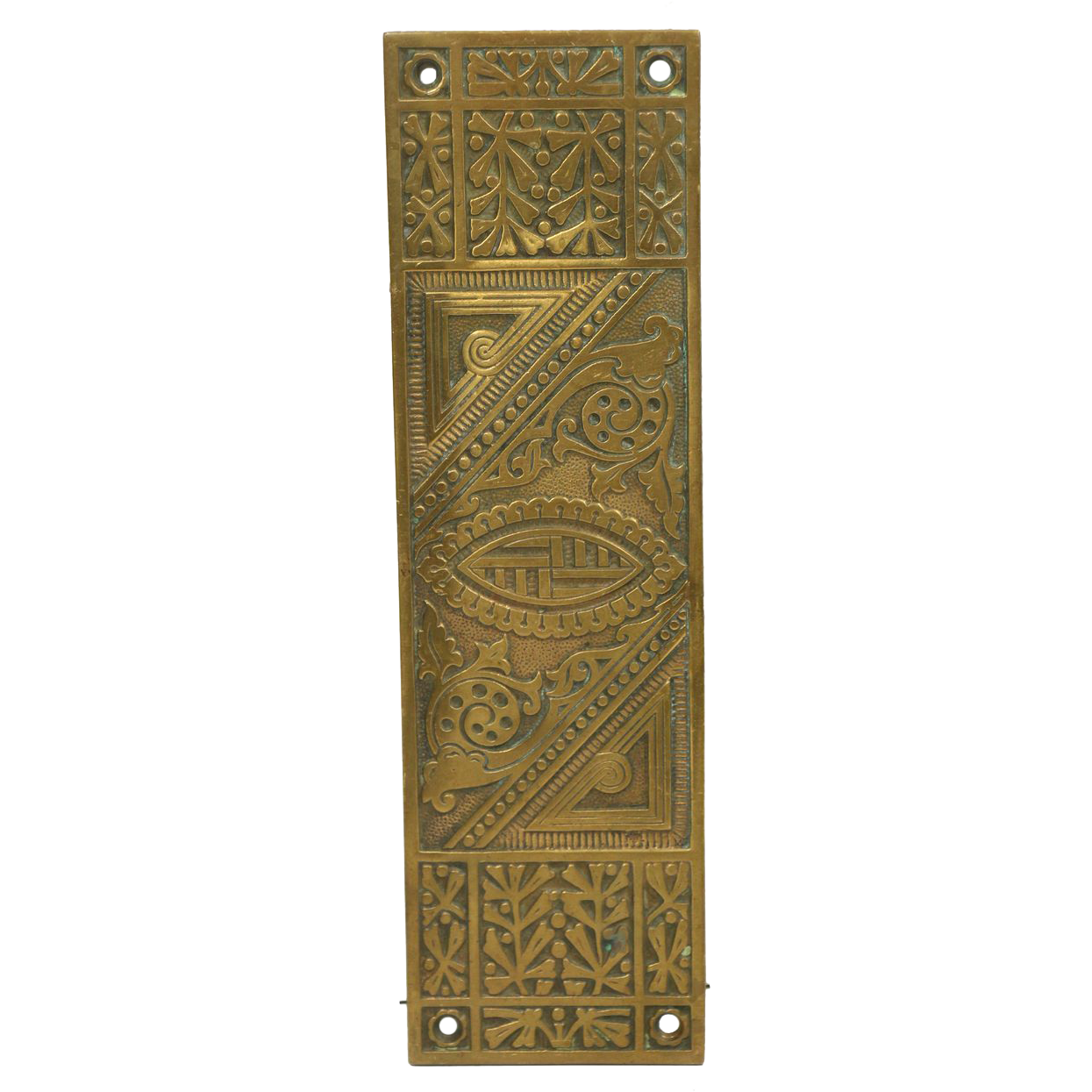 Eastlake Art Deco bronze push plate by Reading