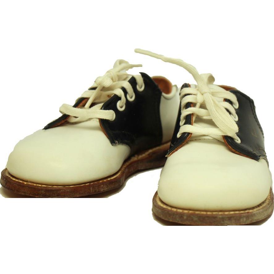 Vintage leather saddle shoes