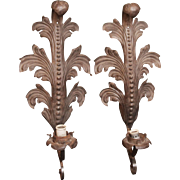 Pair of Art Nouveau cast iron sconces