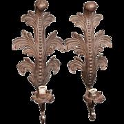 Pair of Art Nouveau cast iron sconces