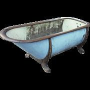 Vintage zinc & cast iron bathtub