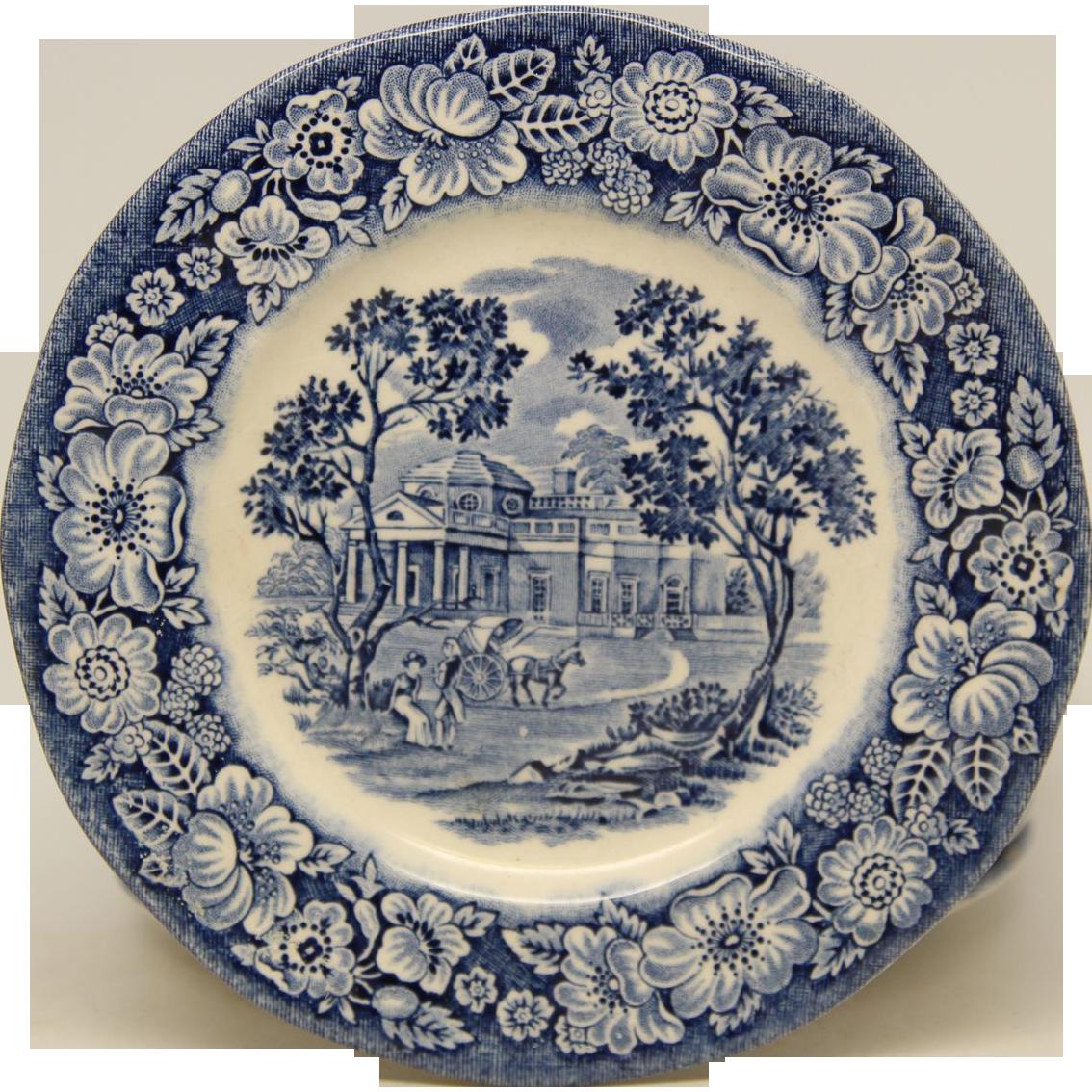 Set of Liberty Blue English dishes