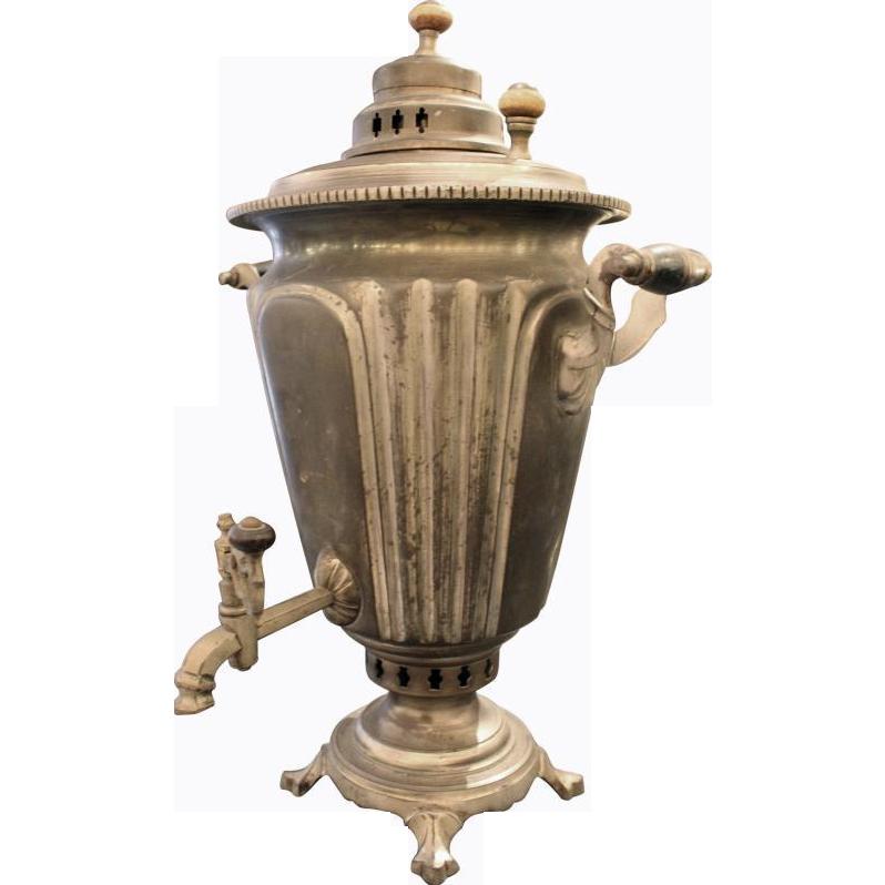 Antique silver coffee urn