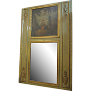 Green over mantel with mirror & painting