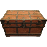 Early century wooden trunk