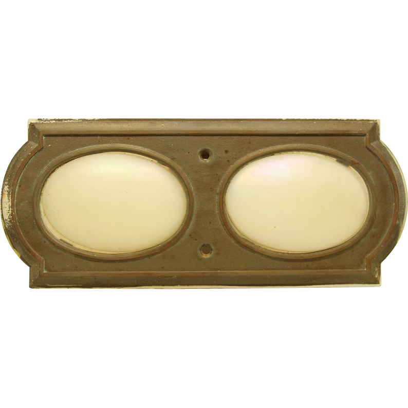 Bronze Corning elevator light plate with opal glass