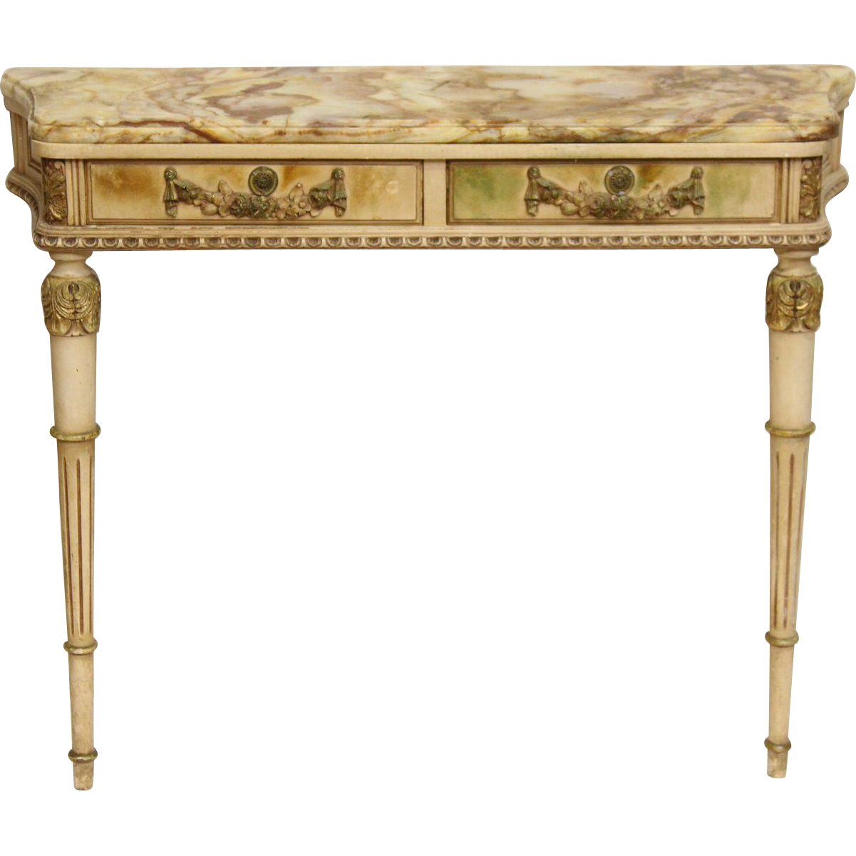 Wall mount entryway table with onyx top