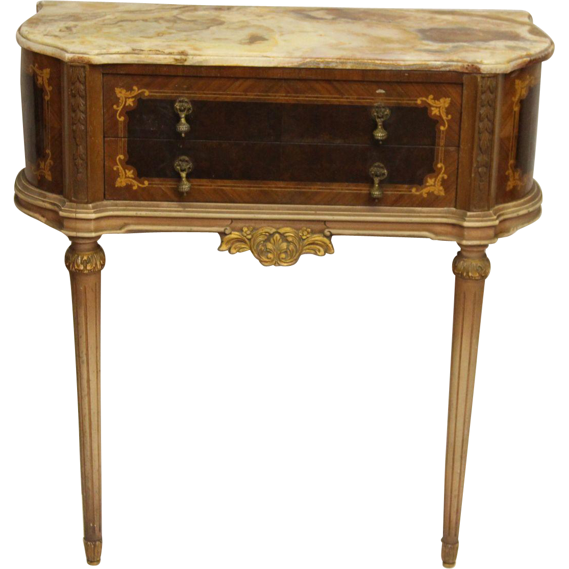 Ornate Federal style marble wall mount table