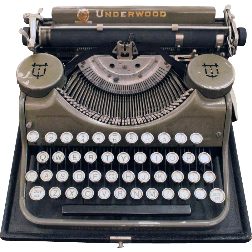 Underwood portable typewriter