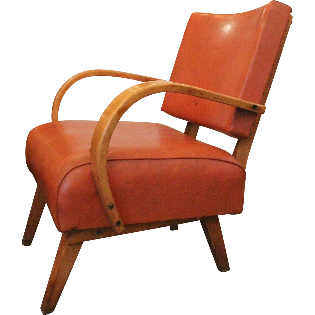 Mid Century orange rocking chair