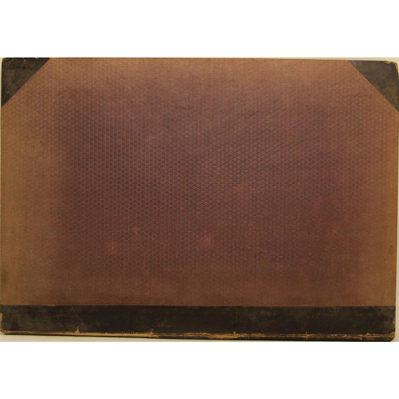 Worn antique Scientific American book