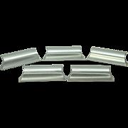 Set of Mid Century brushed steel pulls