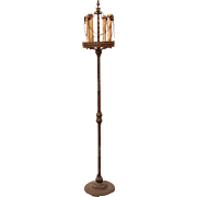 Gothic style iron candle lamp