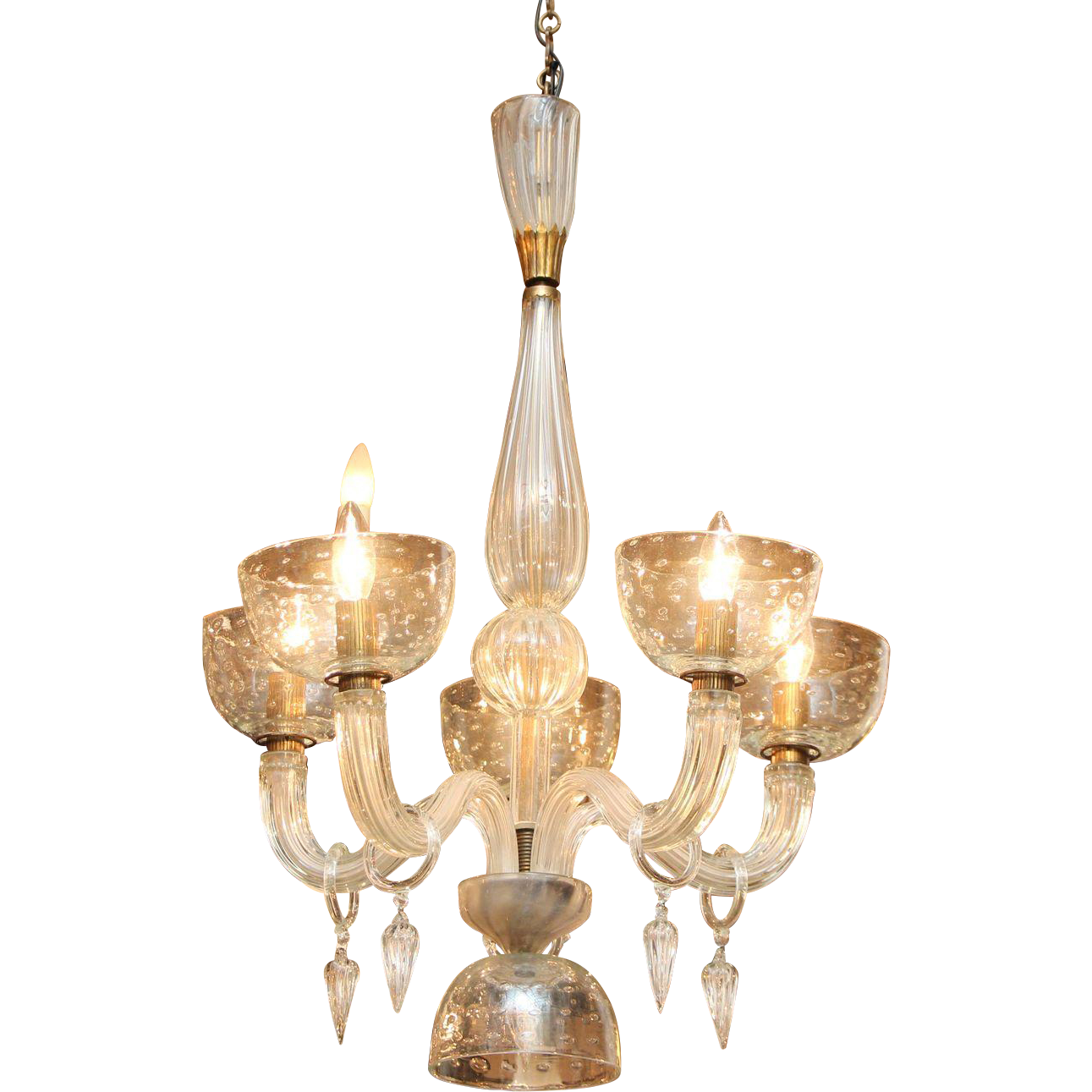 Segusa Italian blown glass chandelier