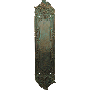 RHC bronze ornate push plate