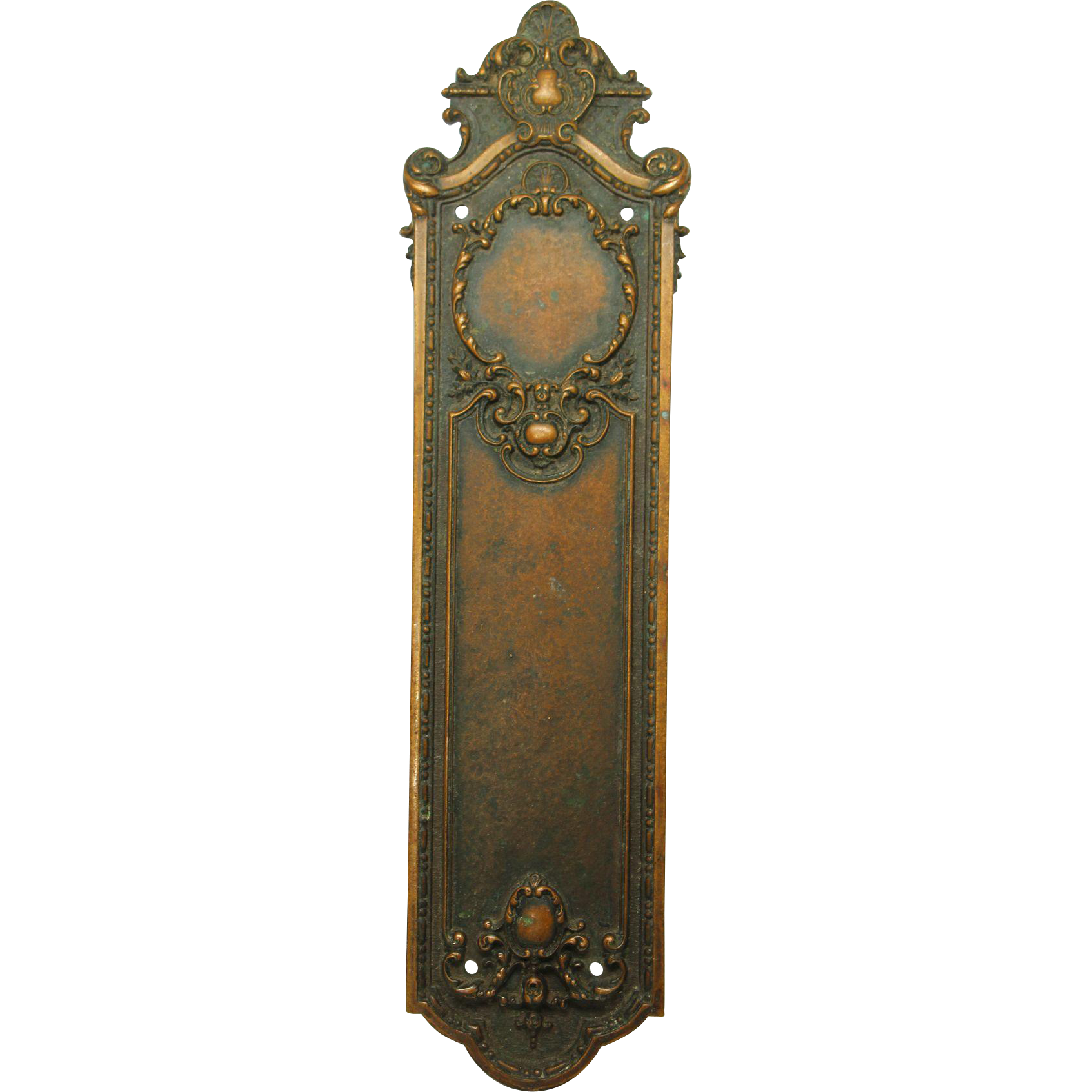 Ornate Sargent bronze push plate