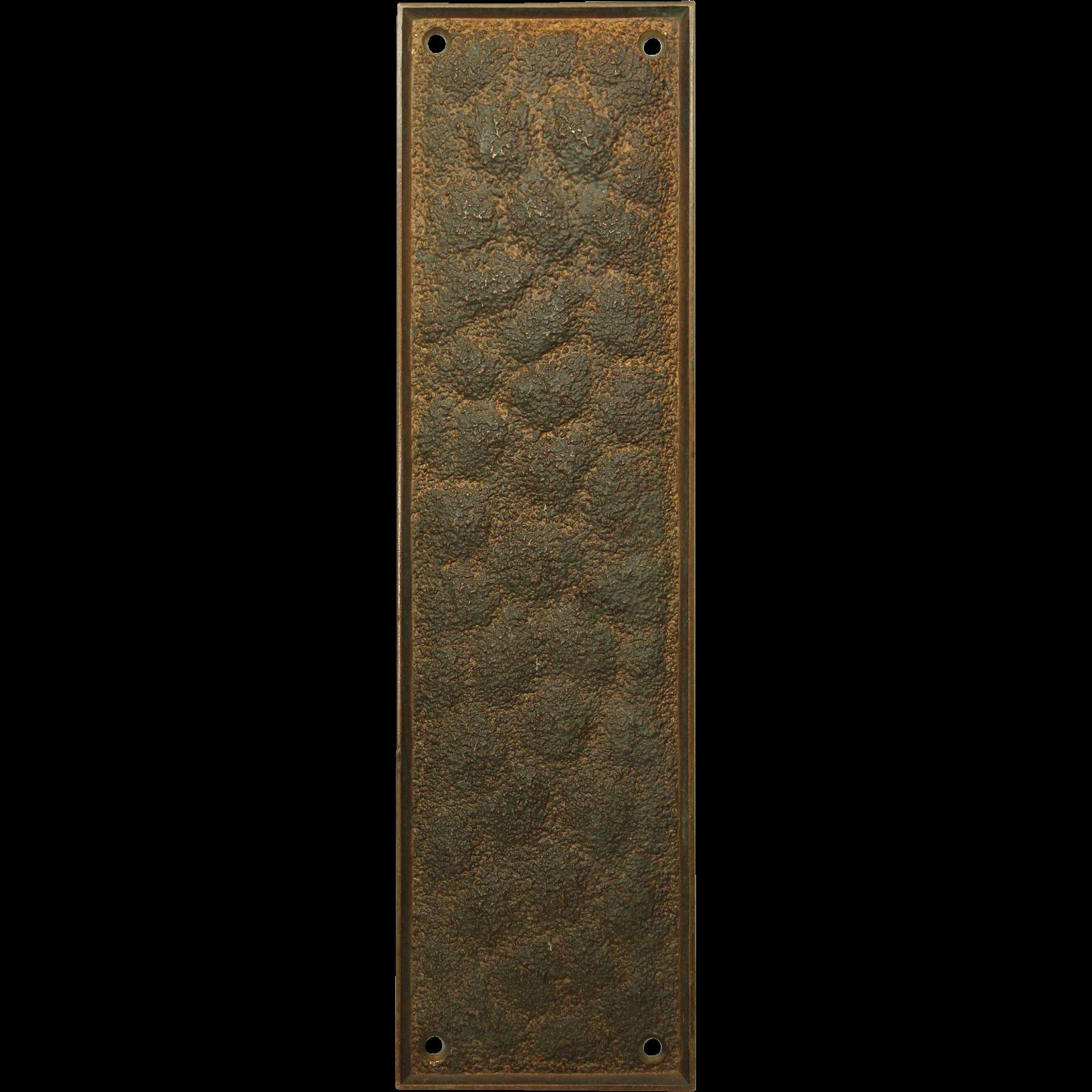 Textured Russwin bronze push plate