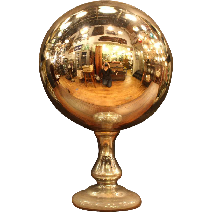1920s Mercury gazing ball