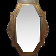 1920s Art Deco bronze mirror