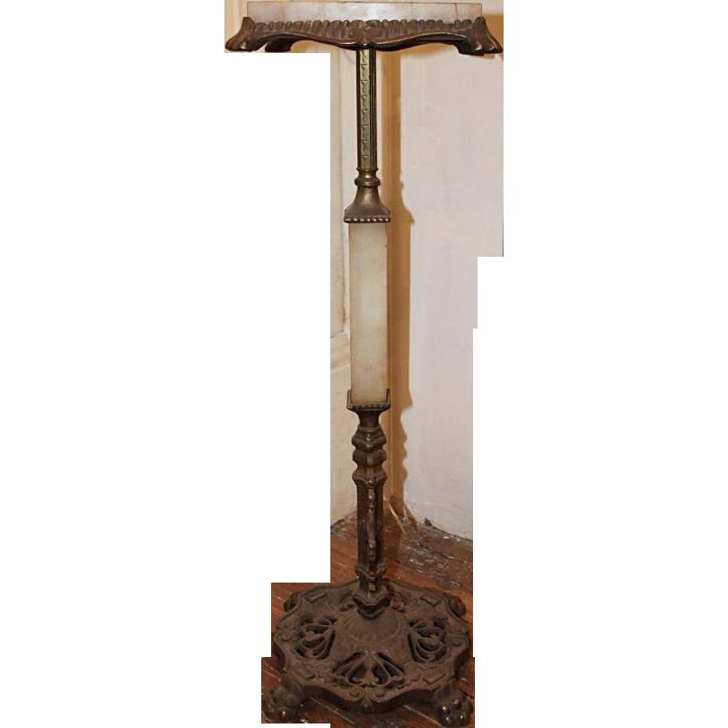 Onyx & iron pedestal